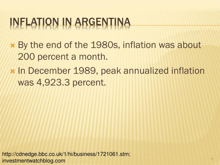 By The End Of 1980s Inflation Was About 200 Percent A Month