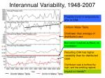 interannual variability 1948 2007