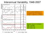 interannual variability 1948 20071