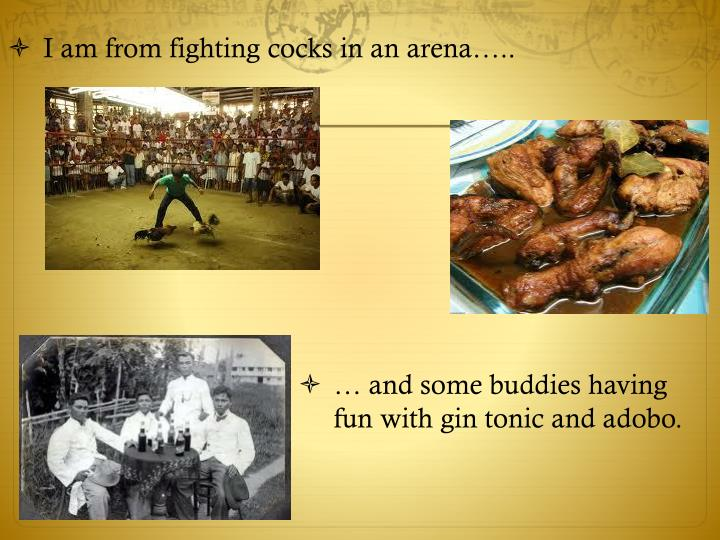 … and some buddies having fun with gin tonic and adobo.
