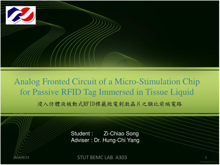 PPT - Analog Fronted Circuit of a Micro-Stimulation Chip for