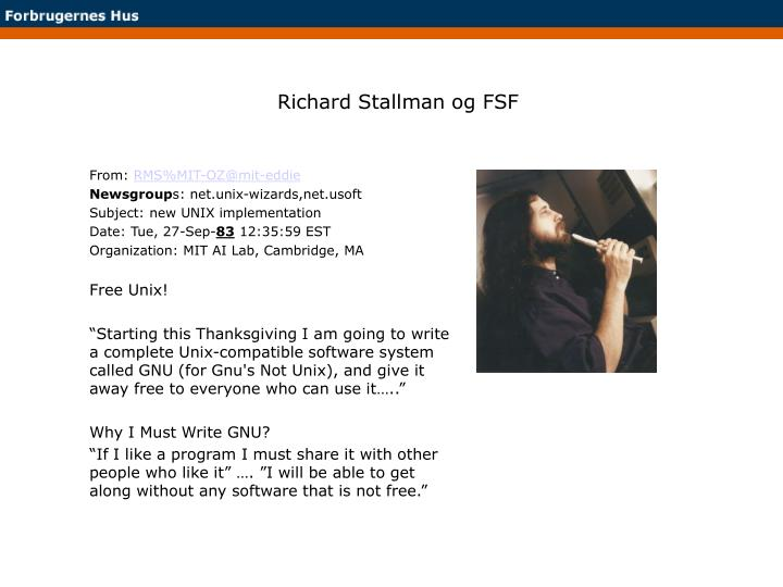 Richard Stallman og FSF