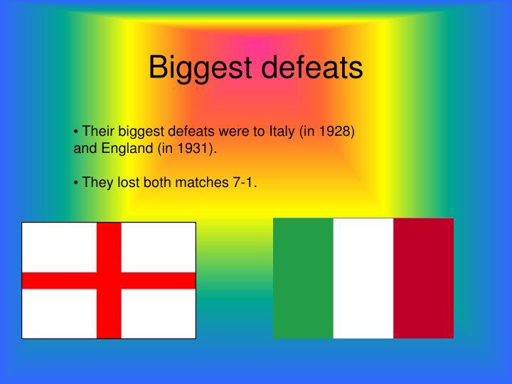 Biggest defeats