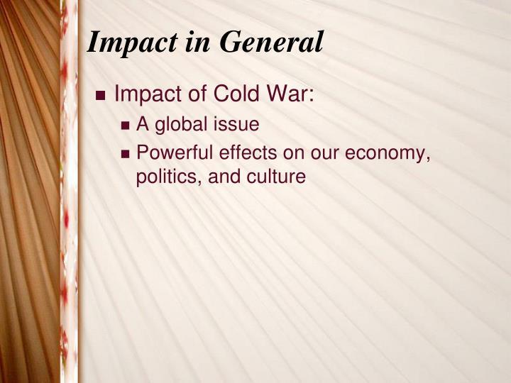 Impact in general