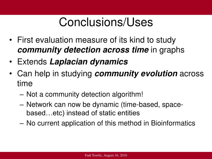 Conclusions/Uses