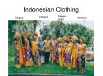 indonesian clothing