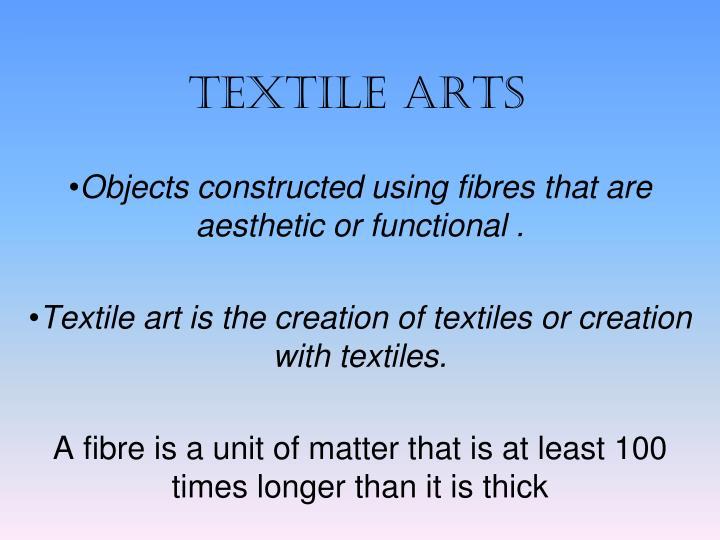 textile arts n.
