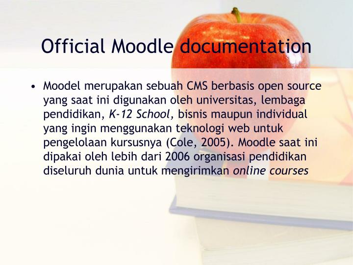 Official Moodle documentation
