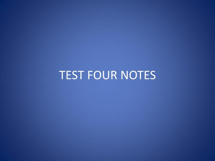 test four notes n.