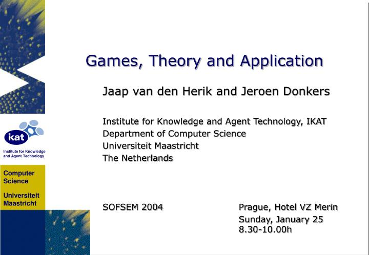 games theory and application n.