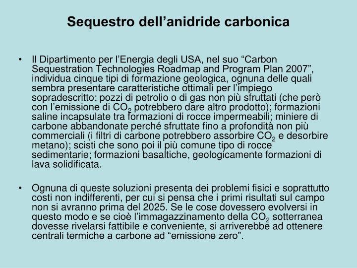 Sequestro dell'anidride carbonica