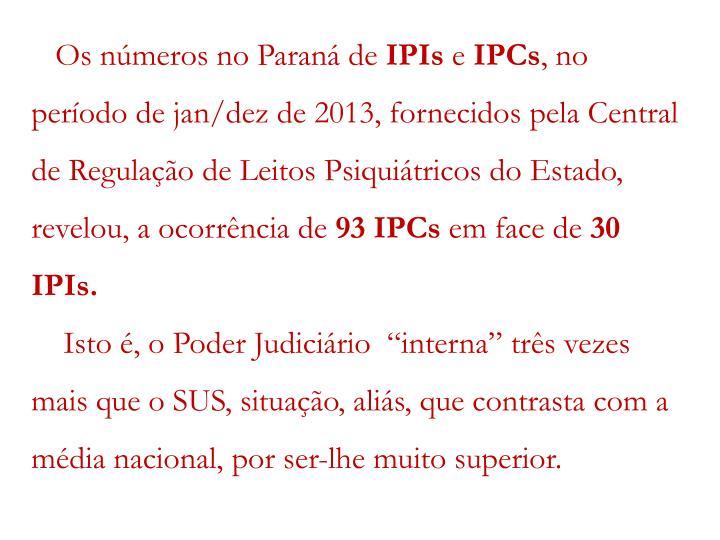 Os números no Paraná de