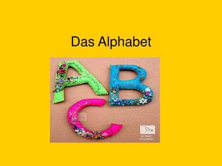 das alphabet n.