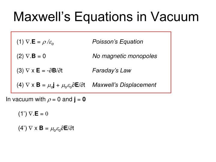 maxwell s equations in vacuum n.