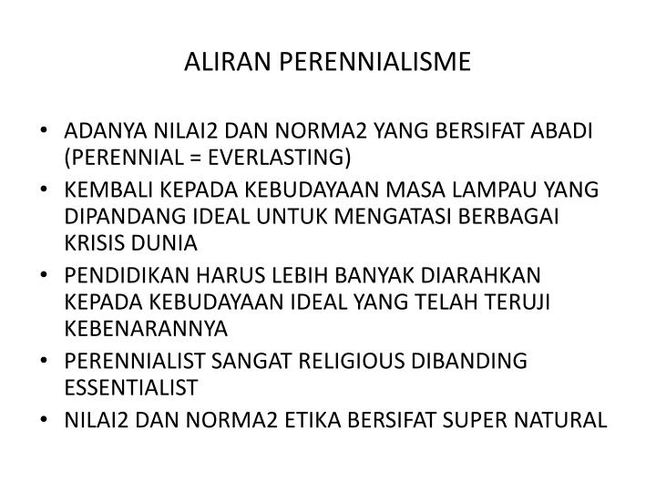 ALIRAN PERENNIALISME