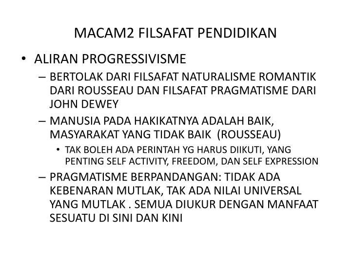 MACAM2 FILSAFAT PENDIDIKAN