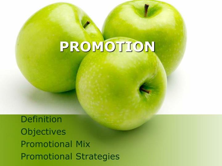 promotion n.