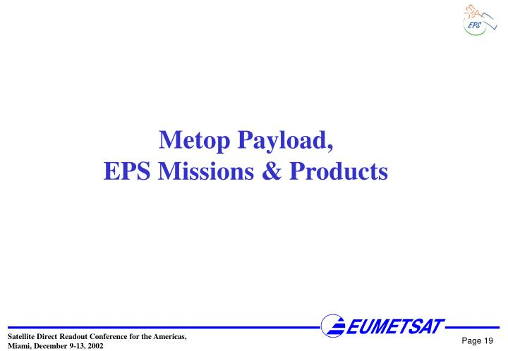 Metop Payload,