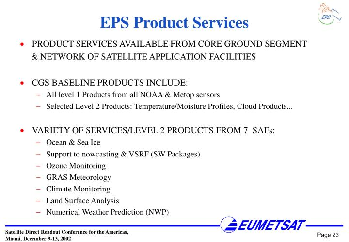 EPS Product Services