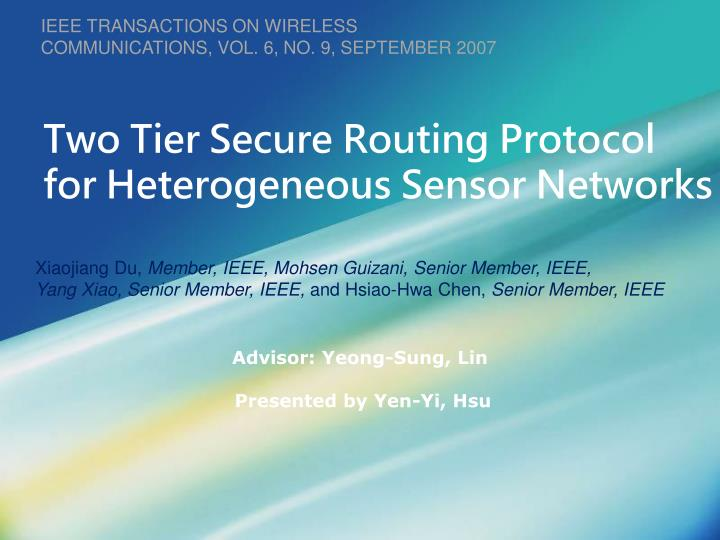 secure routing in wireless sensor networks thesis Providing security to aggregate data in wireless sensor networks is known as secure data aggregation in wsn [27] [29] [30] were the first few works discussing techniques for secure data aggregation in wireless sensor networks.