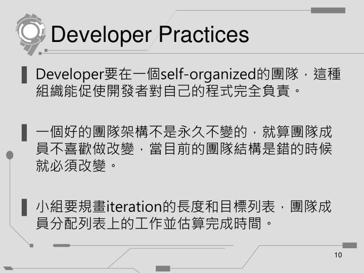 Developer Practices