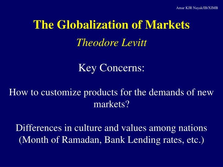 levitt globalization of markets