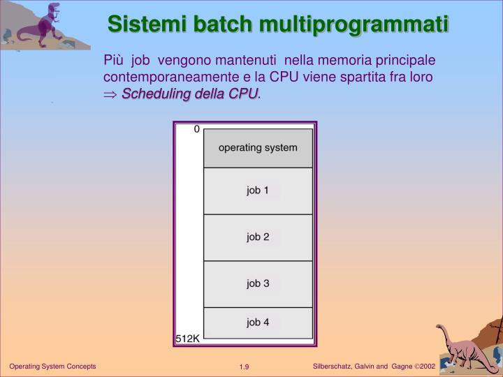Sistemi batch multiprogrammati