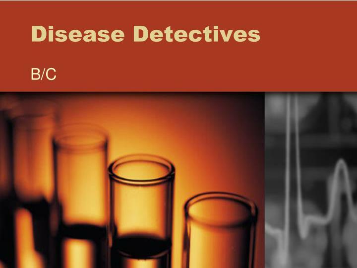 disease detectives n.