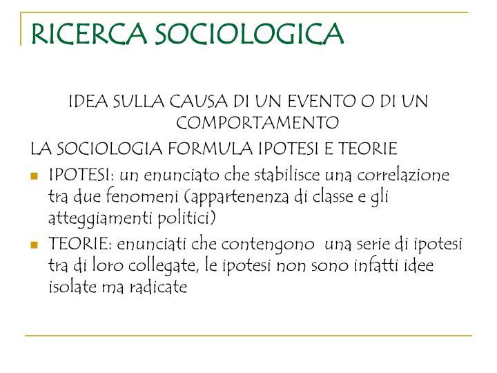 Ricerca sociologica
