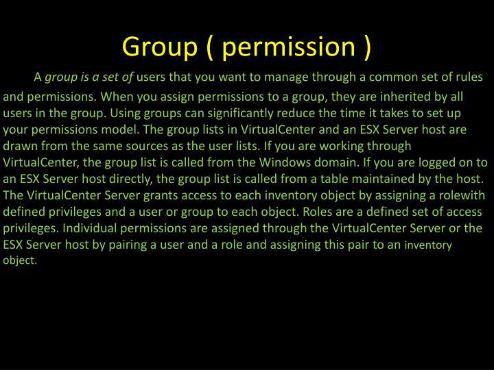 Group ( permission )