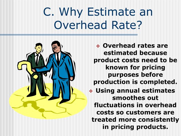 C. Why Estimate an Overhead Rate?