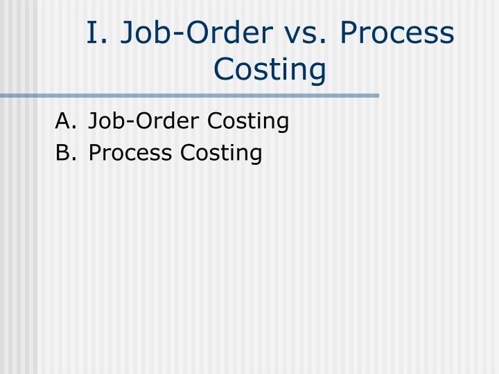 I job order vs process costing