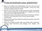 tugas pekerjaan legal administrasi