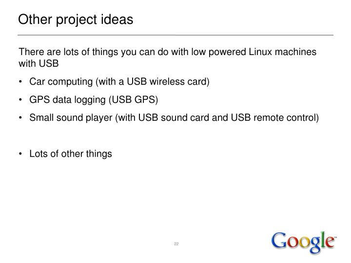 Other project ideas