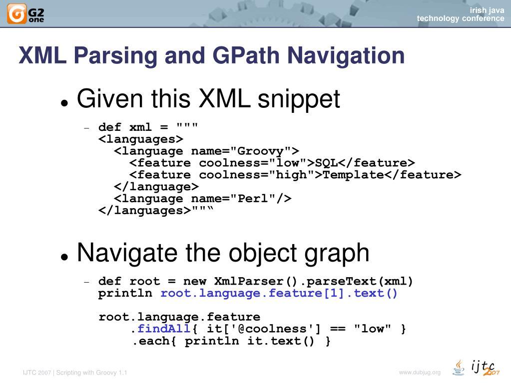 Xml parsing in groovy