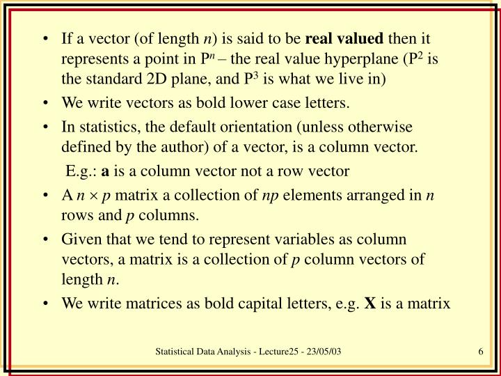 If a vector (of length