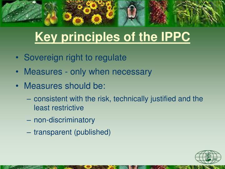 Key principles of the IPPC
