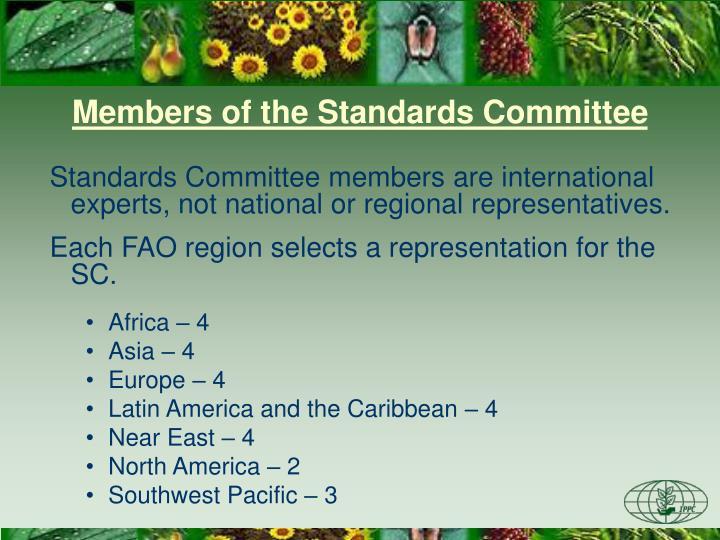 Members of the Standards Committee