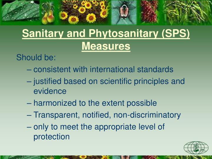 Sanitary and Phytosanitary (SPS) Measures
