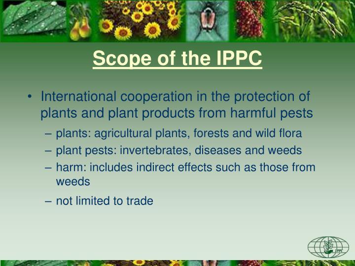 Scope of the IPPC