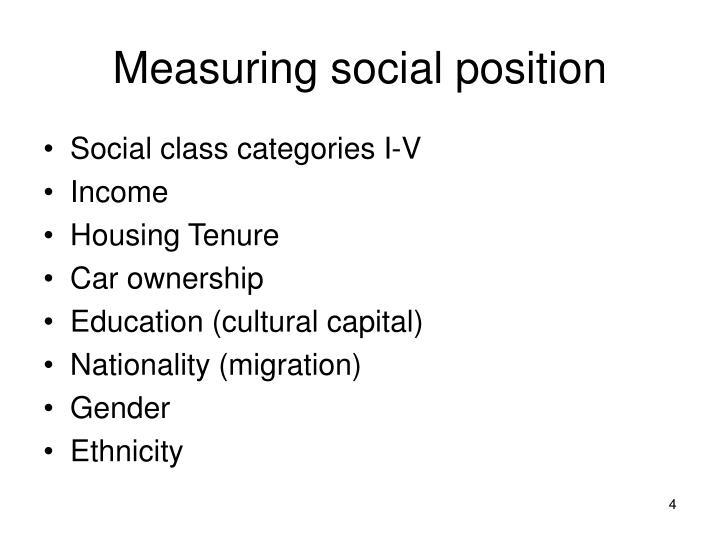 Measuring social position