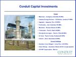 conduit capital investments