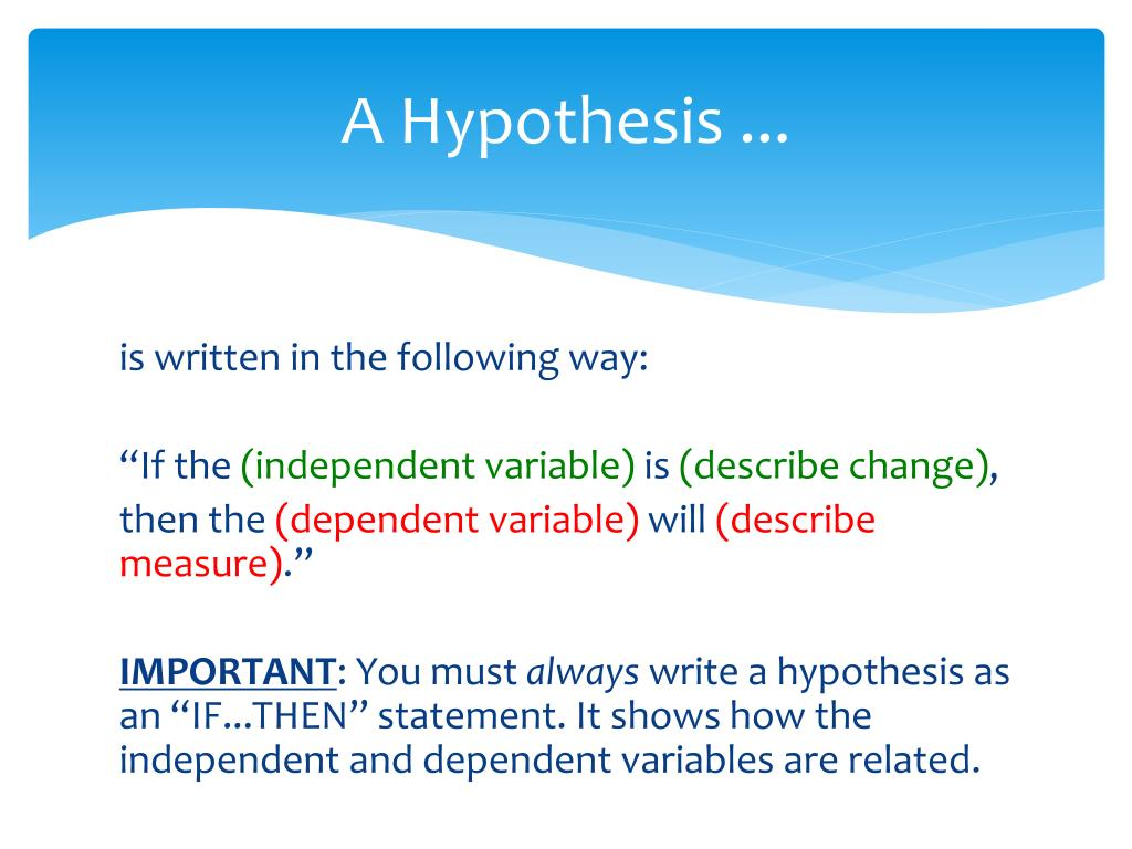 ppt  how to write a hypothesis powerpoint presentation