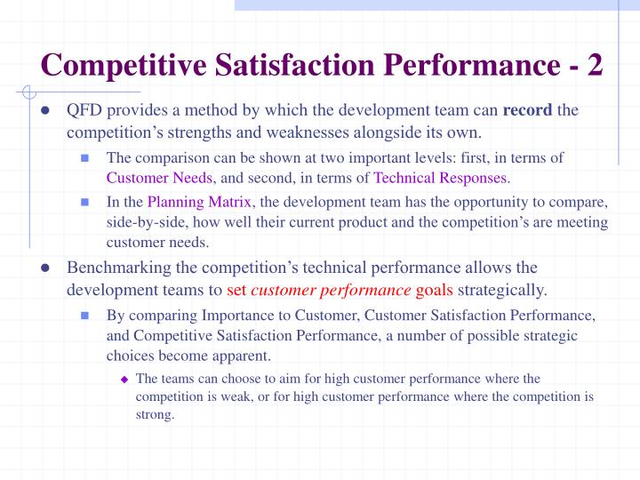 Competitive Satisfaction Performance - 2