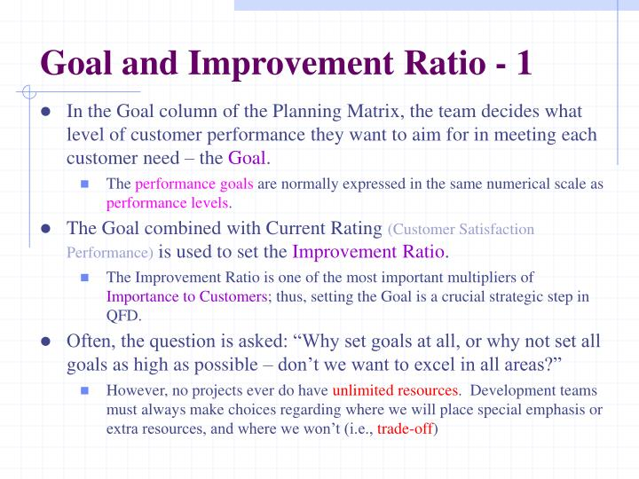 Goal and Improvement Ratio - 1