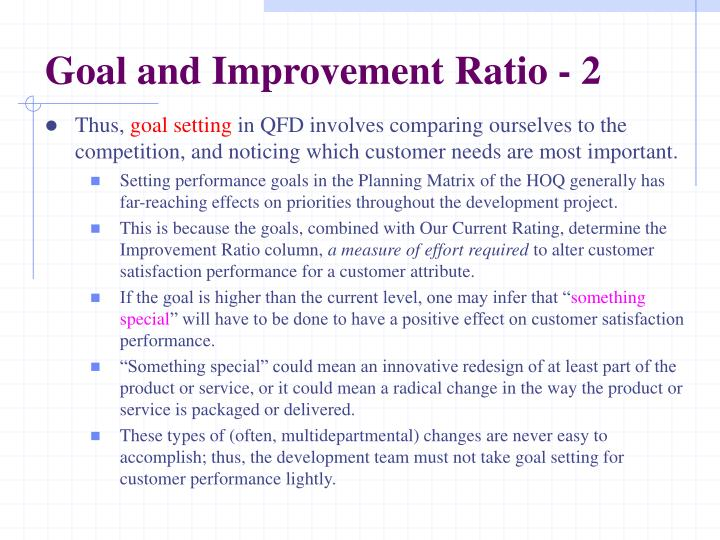 Goal and Improvement Ratio - 2