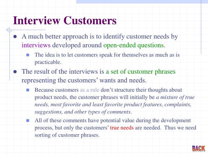 Interview Customers