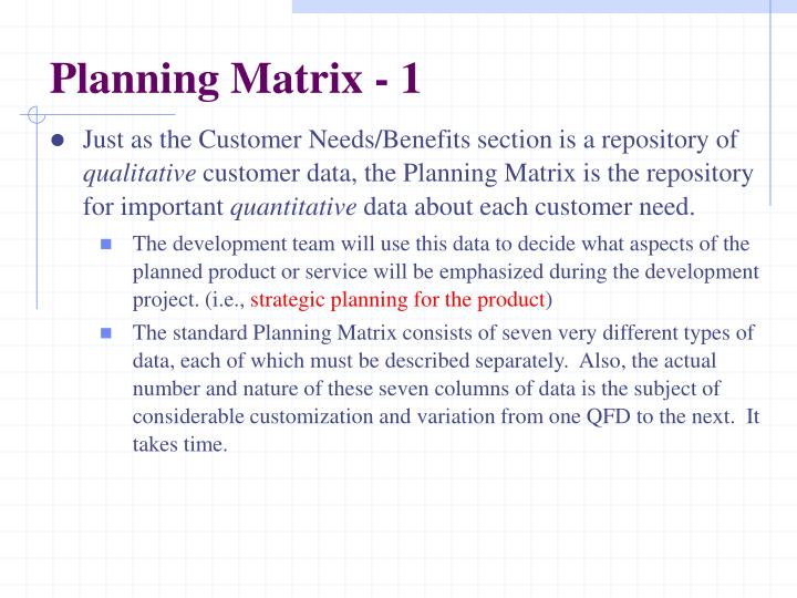 Planning Matrix - 1