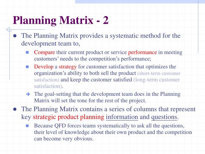 Planning Matrix - 2