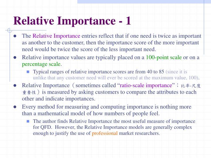 Relative Importance - 1